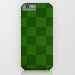 Green Chex 2 iPhone Case