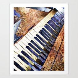 Piano keys art Art Print