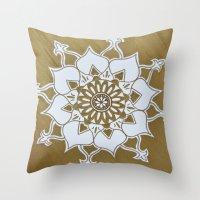 golden Throw Pillows featuring Golden by AriesArtNW.com
