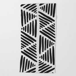 The Beach People Aztec Towel in Black,White,Abstract