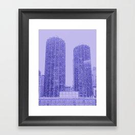 Marina Towers - Chicago - Purple Framed Art Print