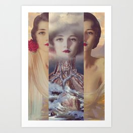 My fortress *collage Art Print