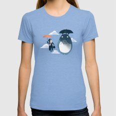 The Perfect Neighbor MEDIUM Womens Fitted Tee Tri-Blue
