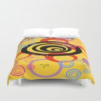 illusion Duvet Covers featuring Illusion by Ketjokha