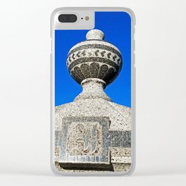 Statue Blue Clear iPhone Case