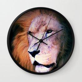 Portrait of a Lion Wall Clock