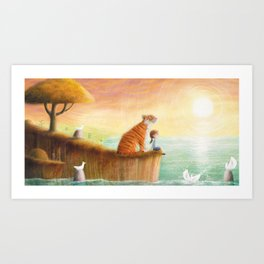 Pet Tiger by P.S. Brooks Art Print