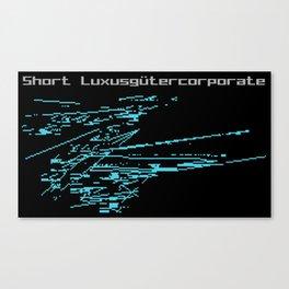 Short Luxusgütercorporate Canvas Print