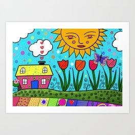 Sunshine House Art Print