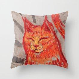Tangerine Bowie Throw Pillow