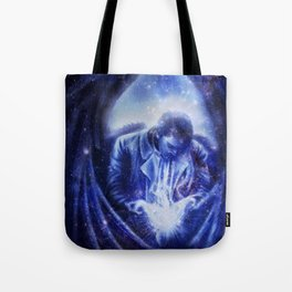 Angel in Blue Tote Bag