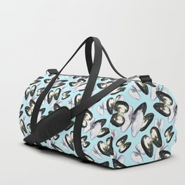 Unio Crassus Pattern in Light Blue Duffle Bag