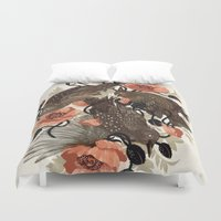 zombie Duvet Covers featuring Spangled & Plumed by Teagan White