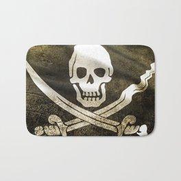 Pirate Skull in Cross Swords Bath Mat