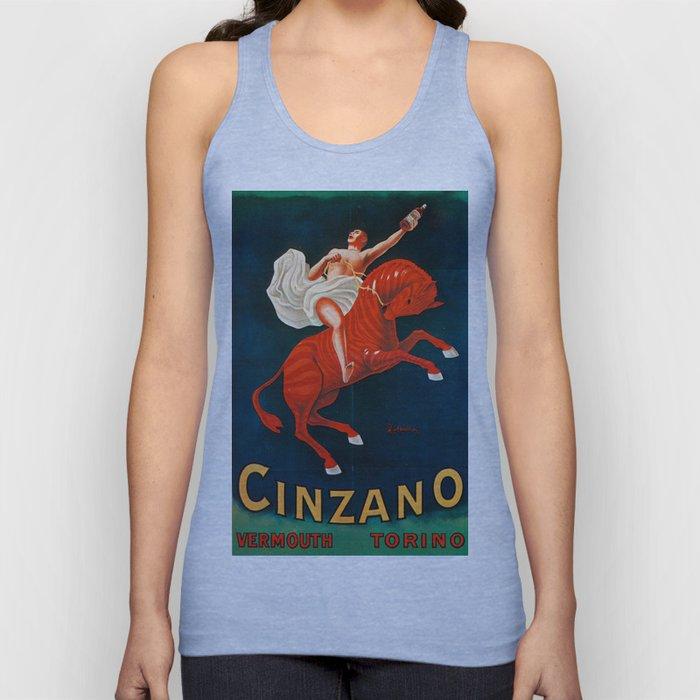 Vintage poster - Cinzano Vermouth Torino Unisex Tank Top