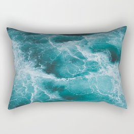 Electric Ocean Rectangular Pillow