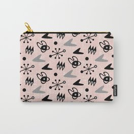 Mid Century Modern Atomic Boomerang Pattern Pink Grey 106 Carry-All Pouch