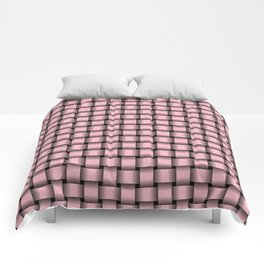 Small Light Pink Weave Comforters
