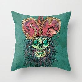 skeleton head of the pirate Throw Pillow