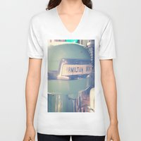 tiffany V-neck T-shirts featuring Tiffany Blue Hamilton Beach by Redhedge Photos