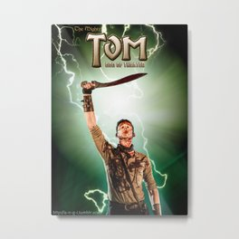 The Mighty Tom God Of Theater - Thor Comic Parody Metal Print