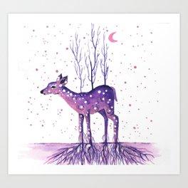 Rooted Deer Art Print
