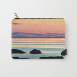 Circle of Rocks and the Sea at Dusk Carry-All Pouch