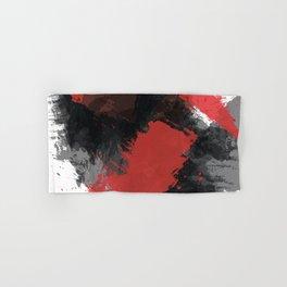 Red and Black Paint Splash Hand & Bath Towel