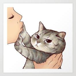 cat : hmmmmm! Art Print