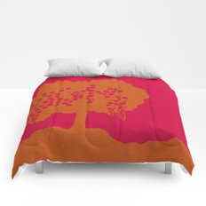 Fruit Tree Series, Red V Comforters