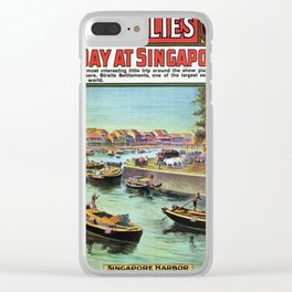 Vintage poster - Singapore Clear iPhone Case