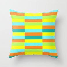 Eccentric Tiles Throw Pillow