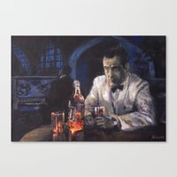 casablanca Canvas Prints featuring Casablanca by Miquel Cazanya