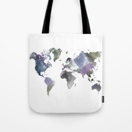 Watercolor World Tote Bag