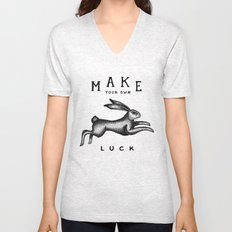 MAKE YOUR OWN LUCK Unisex V-Neck