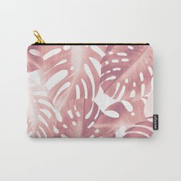 Rose gold tropical plant Carry-All Pouch