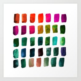 Brushstrokes 1u by Kathy Morton Stanion Art Print