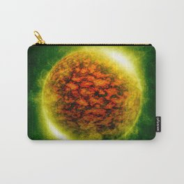 An illustration of a burning polluted planet.  Carry-All Pouch