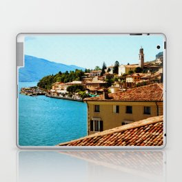 Limone Sul Garda Lake Garda Italy photo painting  Laptop & iPad Skin