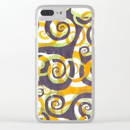 Swirls on Swirls Clear iPhone Case