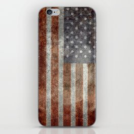 Grungy US flag iPhone Skin