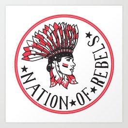Nation of Rebels Art Print