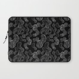 Neon glitch seamless pattern with TV clutter Laptop Sleeve