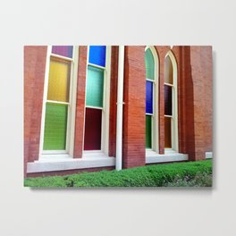 Stained Glass Windows 2 Metal Print