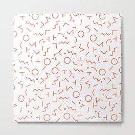 MEMPHIS II ((cherry red)) Metal Print