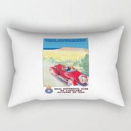 1929 SPAIN International Rally Exposition Of Barcelona Poster Rectangular Pillow