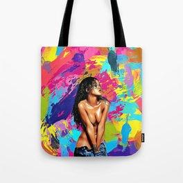 Rihanna - Celebrity Art (Nude Classic Art) Tote Bag
