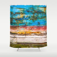 portland Shower Curtains featuring The Portland by Priscilla Clare