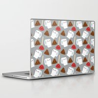 toilet Laptop & iPad Skins featuring Toilet pattern by Irmirx