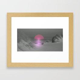 light spot Framed Art Print